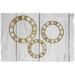MDF - Clock Faces / 3 pcs