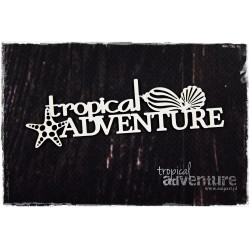 Chipboard  - Tropical Adventure / inscription