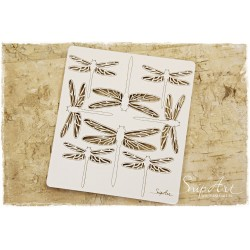 Chipboard  - Dragonflies / set of 8