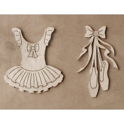 Chipboard  - Ballerina Set