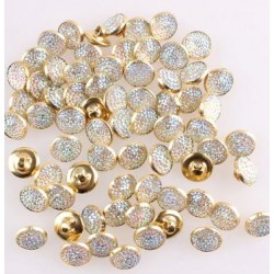 Rhinestone Button 10.5 mm
