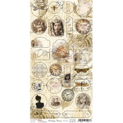 Paper Sheet DIE CUT Elements -Vintage Bisou