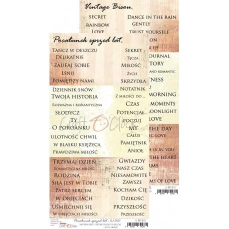 Scrapbooking Paper Sheet/ QUOTES - Vintage Bisou
