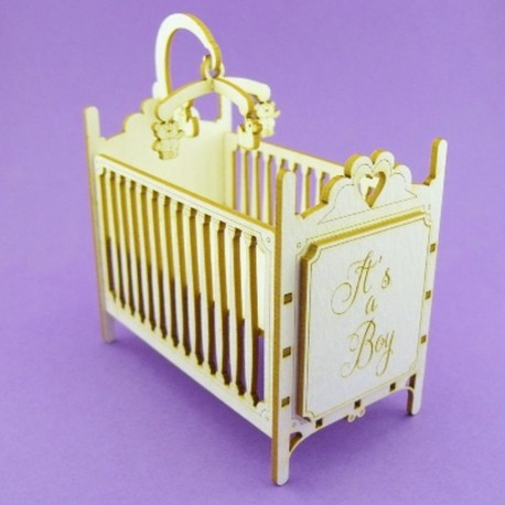 Chipboard - Baby Crib (3D)