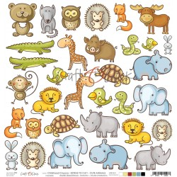 Scrapbooking Papers - A SHEET OF EXTRAS TO CUT - Animals