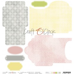 Scrapbooking Paper- 12x12 A SHEET WITH ENVELOPES TO CUT/ Sweet Prncess