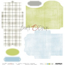 Scrapbooking Paper- 12x12 A SHEET WITH ENVELOPES TO CUT/ Sweet Prince