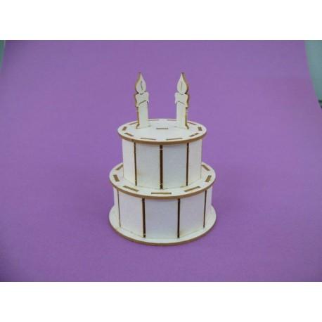 Chipboard - Birthday Cake (3D)