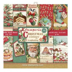 Scrapbooking Paper - Christmas Vintage (8x8)