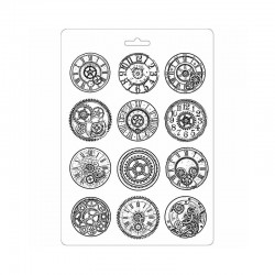 Plastic Mold - Clocks and Mechanisms / 12 elements