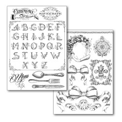 Stamperia Transfer Paper A4 - Alphabet + Decors / 2 sheets