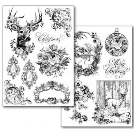 Stamperia Transfer Paper A4 - Christmas/ 2 sheets