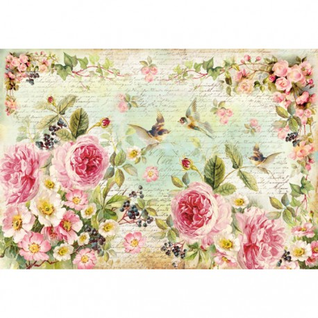A3 Rice Paper - ENGLISH ROSES