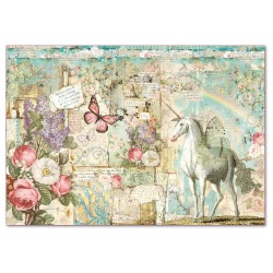 A3 Rice Paper - WONDERLAND UNICORN