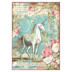 A4 Rice Paper - WONDERLAND UNICORN