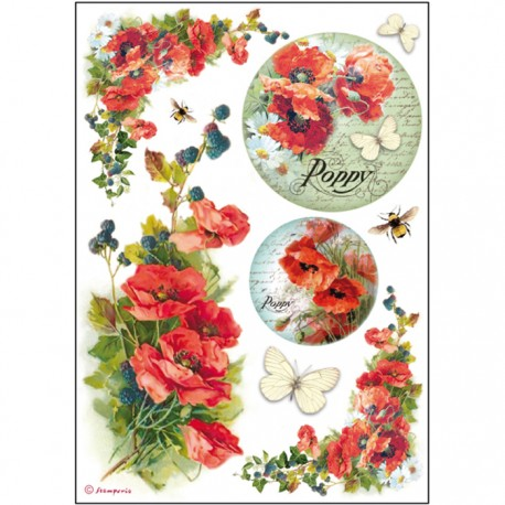 A4 Rice Paper - POPPIES