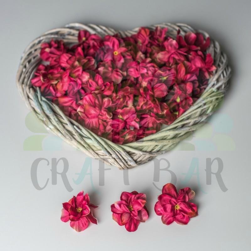 Fabric flowers craft shop fabric gillyflower dark pink beautiful flowers mightylinksfo