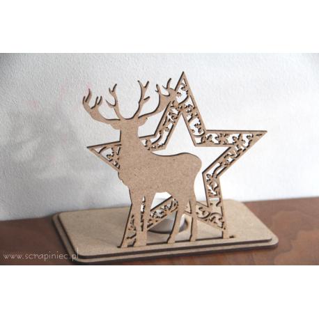MDF - Tealight stand / Reindeer