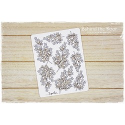 Chipboard - Branches of cypress trees /8pcs