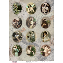 Decoupage image sheet A4 / 301