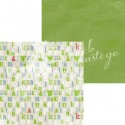 Scrapbooking Papers - One sheet / COLOR GREEN (12x12)