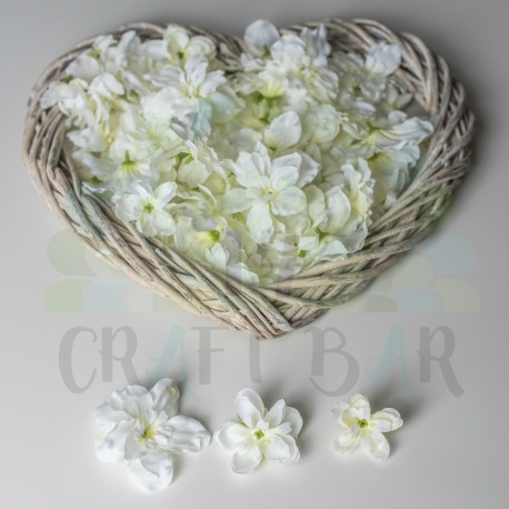 Fabric Gillyflower - WHITE