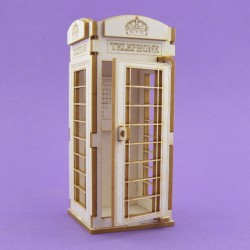 Chipboard - London telephone booth/3D -small
