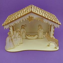 Chipboard - Nativity scene 3D