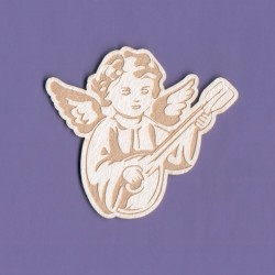 "Chipboard - Engraved Angel ""A"""