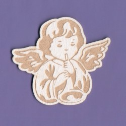 "Chipboard - Engraved Angel ""C"""