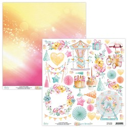 Scrapbooking Paper- 12x12 Sheet -  FOREVER YOUNG 09