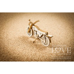 Chipboard - Retro Motorcycle 3D