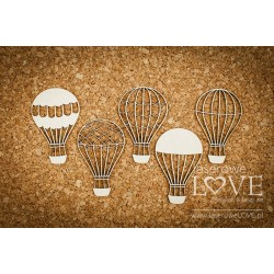 Chipboard -Steampunk Balloons/2pcs