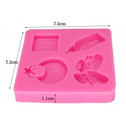 Silicone Mold - Baby Elements / 4pcs