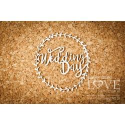 Chipboard - Wedding Day in a wreath