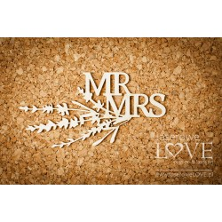 Chipboard - Mrs & Mr with lavender