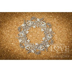 Chipboard - Large wreath of leaves