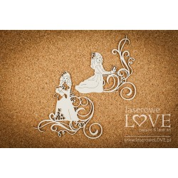 Chipboard -Communion girl + decors /2pcs