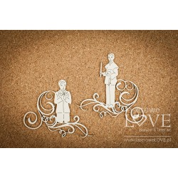 Chipboard -Communion boy + decors /2pcs