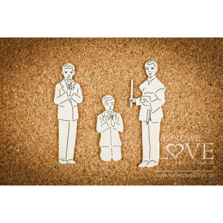 Chipboard -Communion boy /3pcs