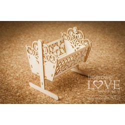 Chipboard - Large Baby Cradle /3D