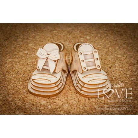 Chipboard - Large Baby Shoes /3D