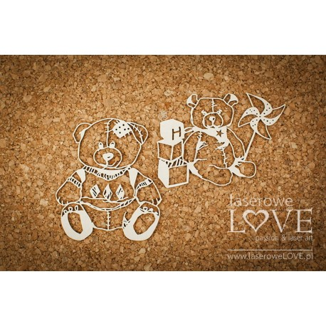 Chipboard - Baby Toys / 2pcs