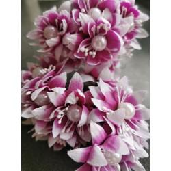 Pearl chrysanthemum  / 6pcs /PURPLE-MAGENTA