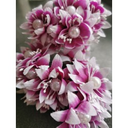 Pearl chrysanthemum  / 6pcs /PURPLE-MAGENTA