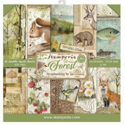 STAMPERIA Scrapbooking Paper - FOREST (12x12)