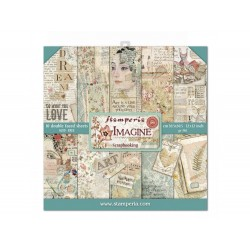 STAMPERIA Scrapbooking Paper - IMAGINE (12x12)