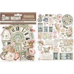 "Stamperia DIE CUTS Elements - ""House of roses"" / 65 pcs"