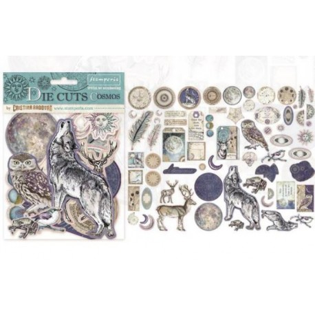 "Stamperia DIE CUTS Elements - ""Cosmos"" / 66 pcs"