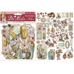 "Stamperia DIE CUTS Elements - ""Alice"" / 62 pcs"
